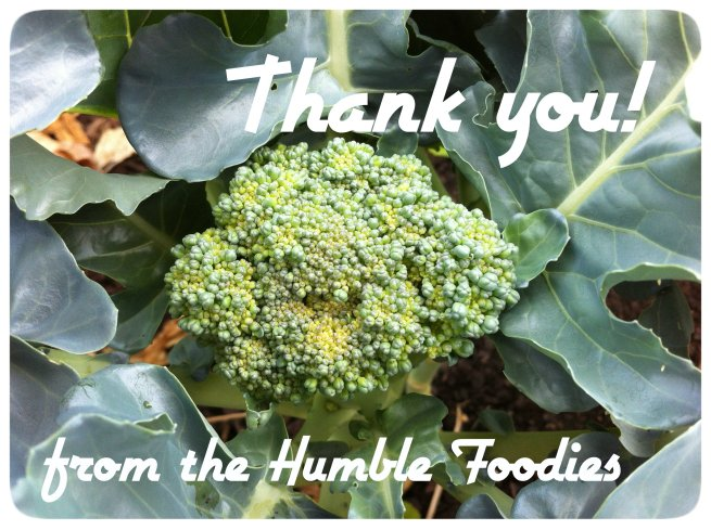 thank you from the humble foodies