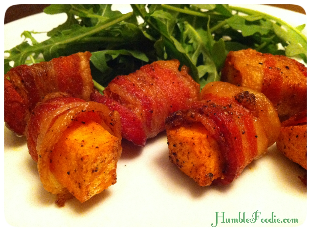 Bacon-Wrapped Sweet Potatoes