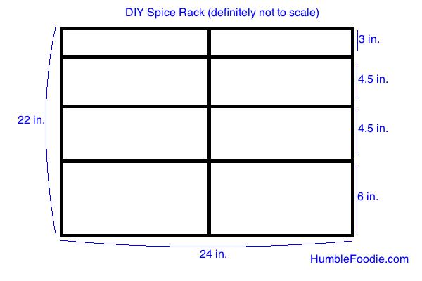 DIY spice rack measurements