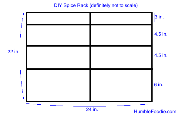 kitchen spice rack plans