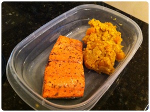 broiled salmon with butternut squash risotto