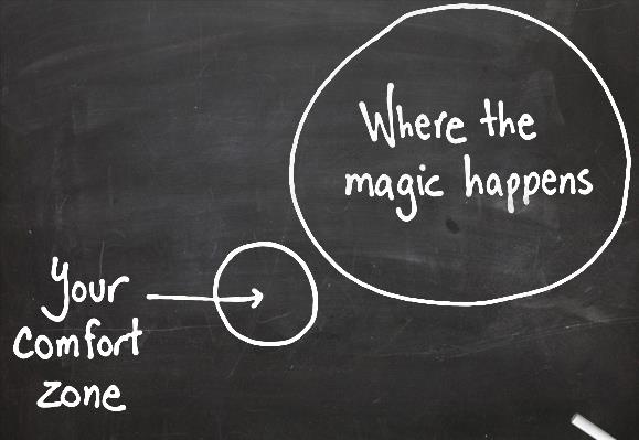 where the magic happens your comfort zone