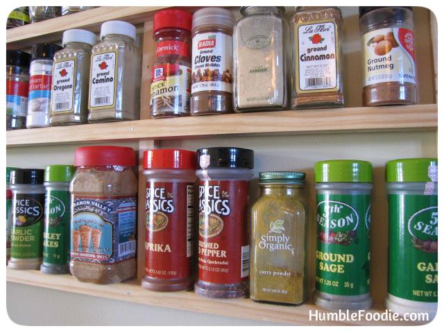 homemade spice rack plans
