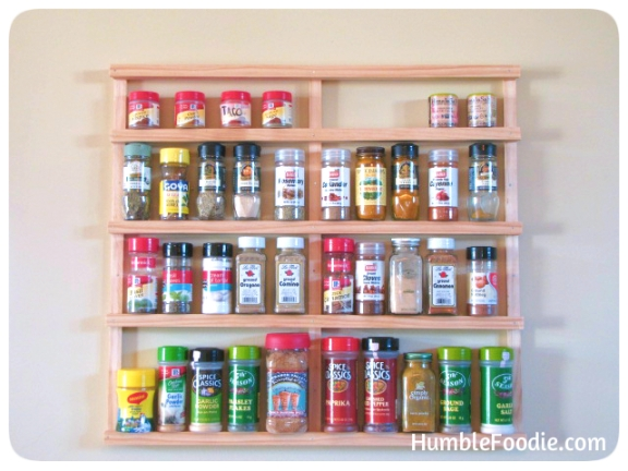 How To Build A Spice Rack Magnificent DIY Build Your Own Spice Rack Humble Foodie