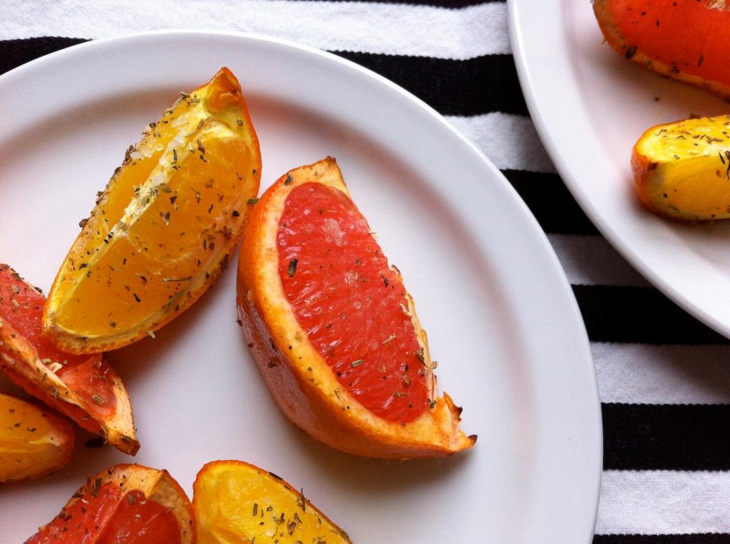roasted citrus close up