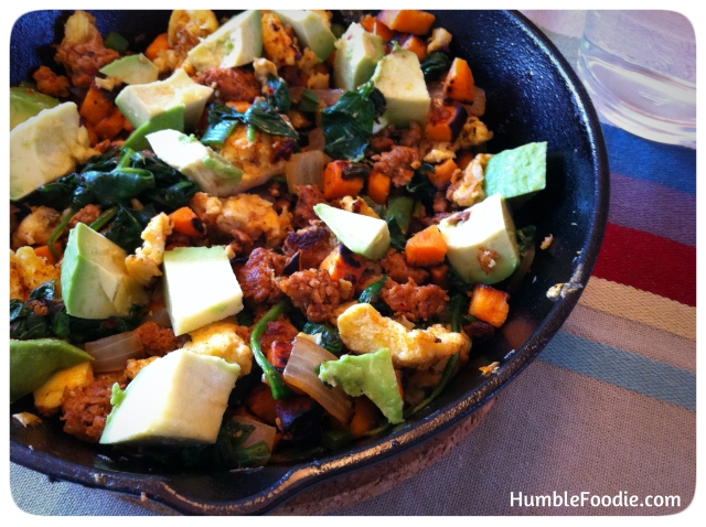 spicy green paleo skillet