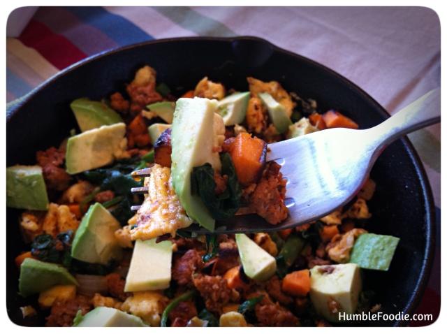 spicy green paleo breakfast skillet