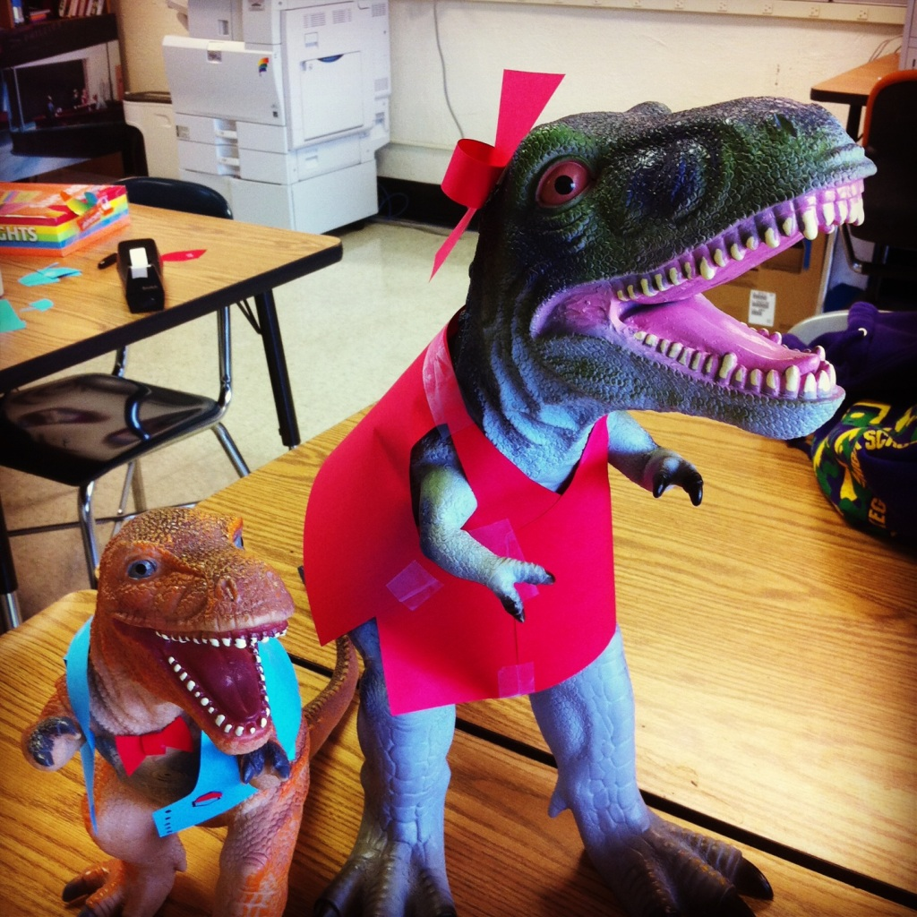 t-rex dinosaurs in costume