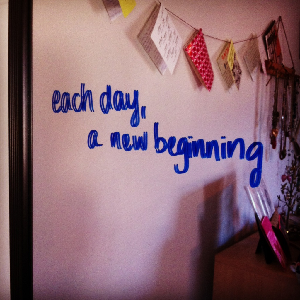 each day a new beginning